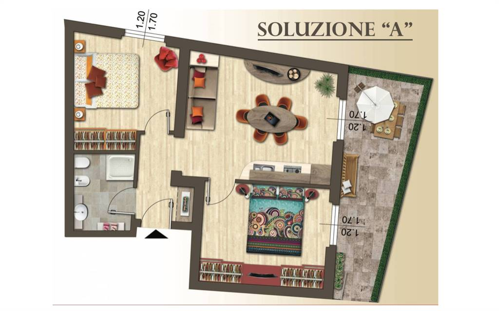Apartment in FIRENZE 60 Sq. mt. | 3 Rooms | Garden 16 Sq. mt.