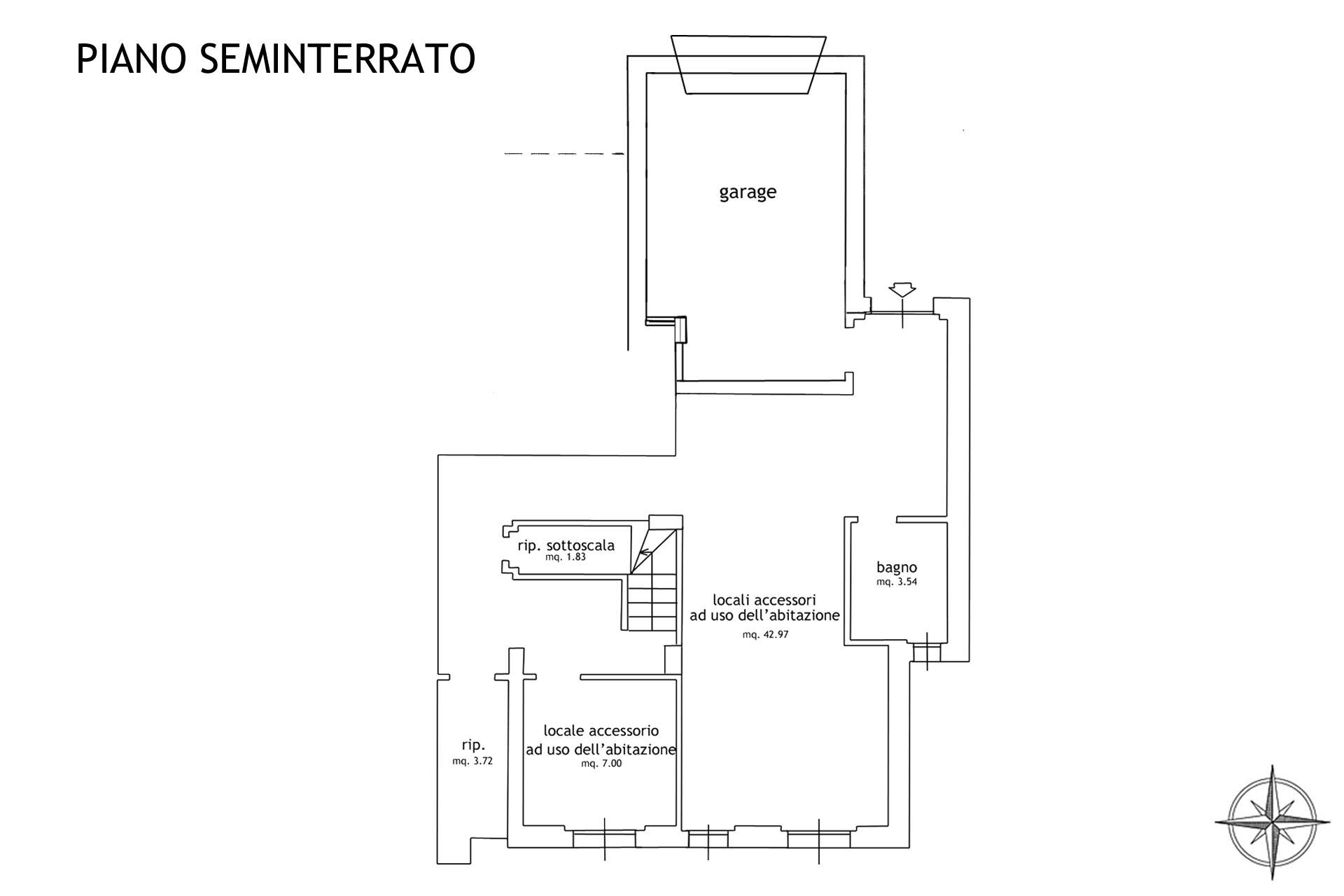 plan piano seminterrato e garage