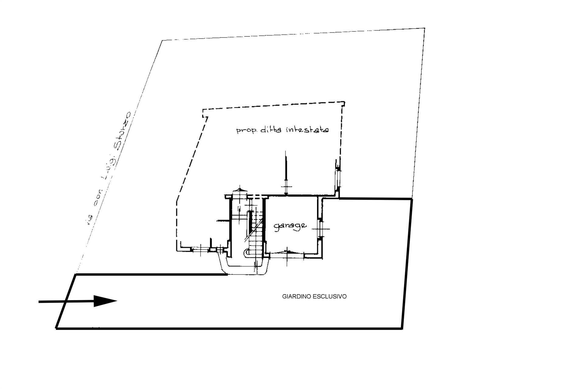 Planimetria garage e giardino