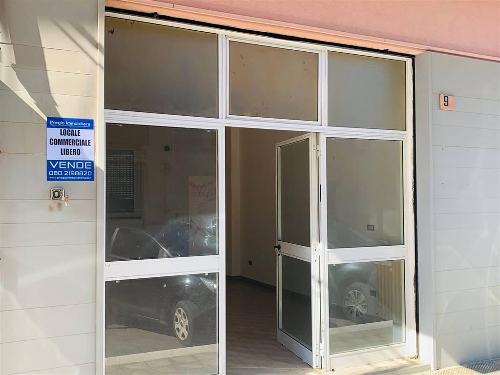Locale Commerciale in Via Alcide de Gasperi , zona semicentrale, nelle immediate vicinanze della piazza Falcone e Borsellino, proponiamo in vendita con una superficie interna di mq.60 ed in buono