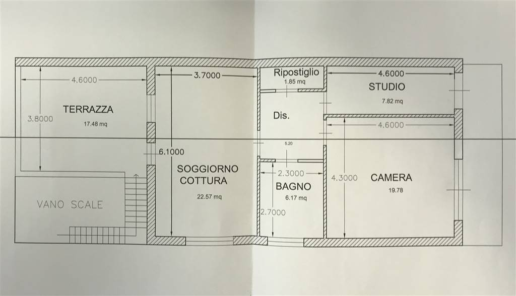 LIDO DI CAMAIORE, CAMAIORE, Apartment for sale of 60 Sq. mt., Be restored, Heating Individual heating system, placed at 1° on 1, composed by: 3 Rooms,