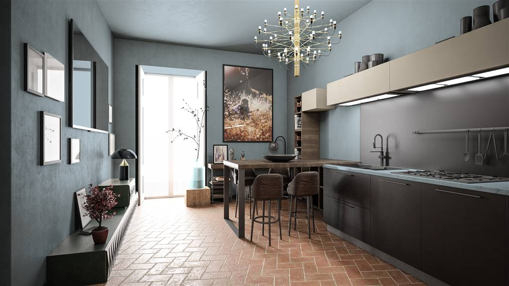SETTIGNANO, FIRENZE, Appartement des vendre de 92 Mq, Restauré, Chauffage Autonome, par terre Terrains sur 3, composé par: 3 Locals, Kitchenette, , 2