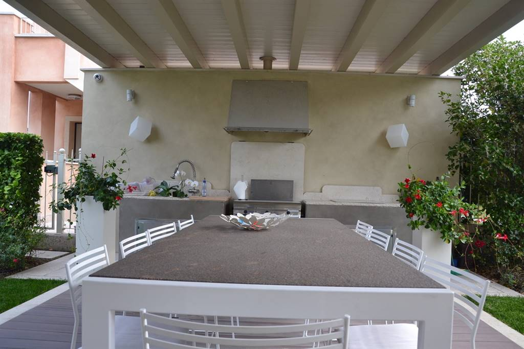 Foto patio con cucina