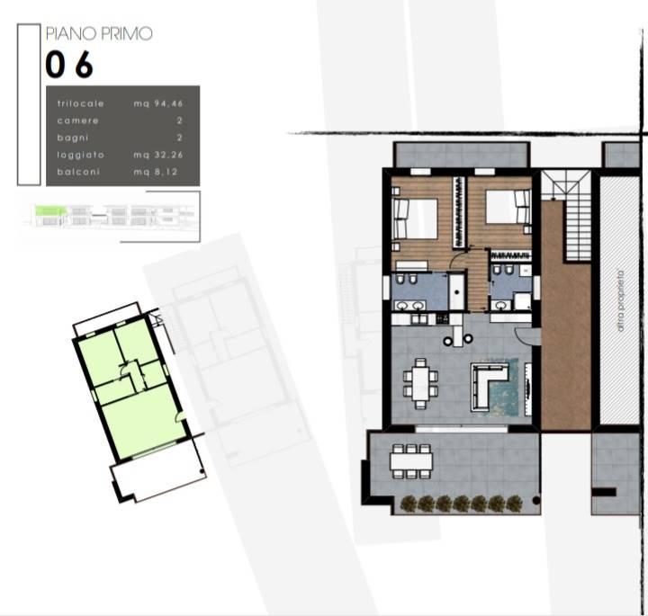 Planimetrie appartamento n. 6