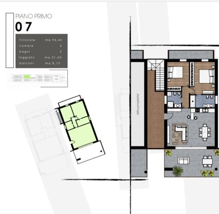 Planimetrie  appartamento  n. 7