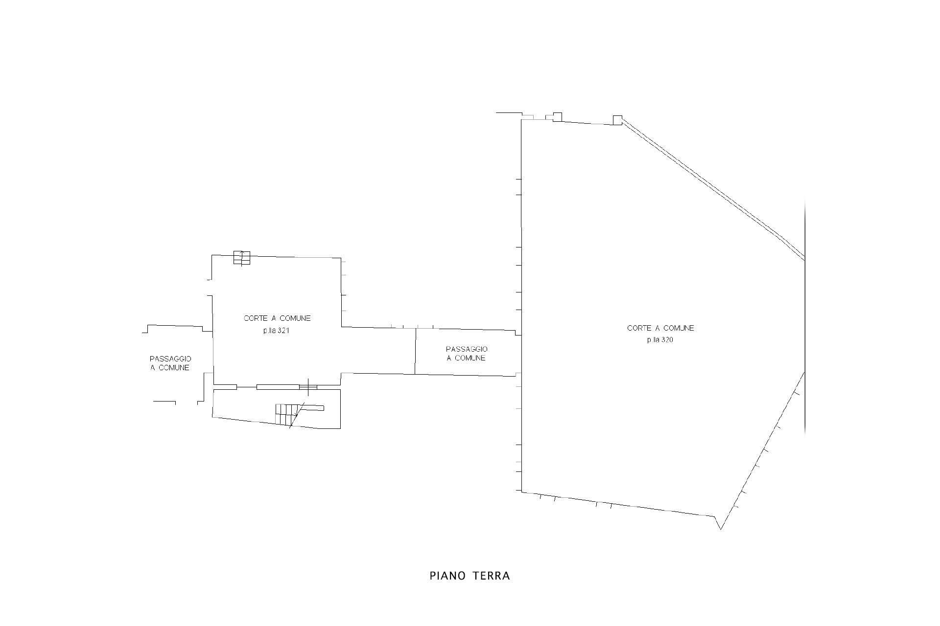 planimetria spazi comuni e area parcheggio
