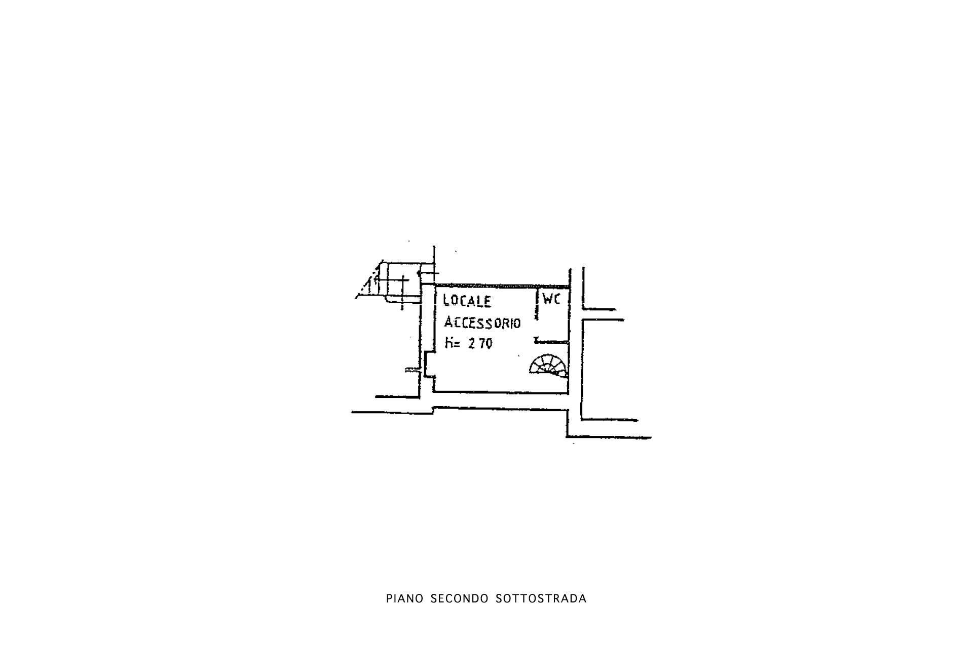 Planimetria piano 2S