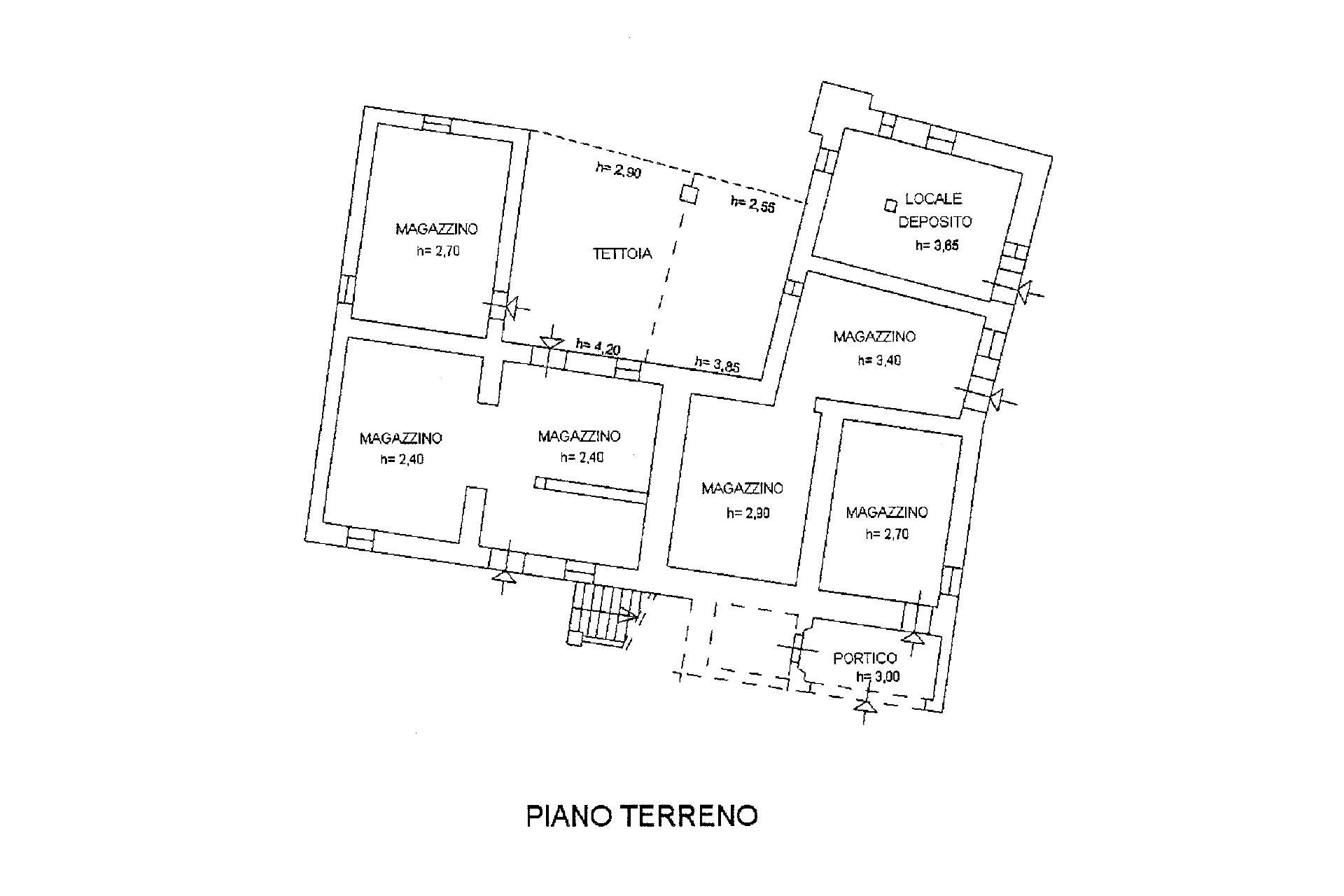 Planimetria piano terreno