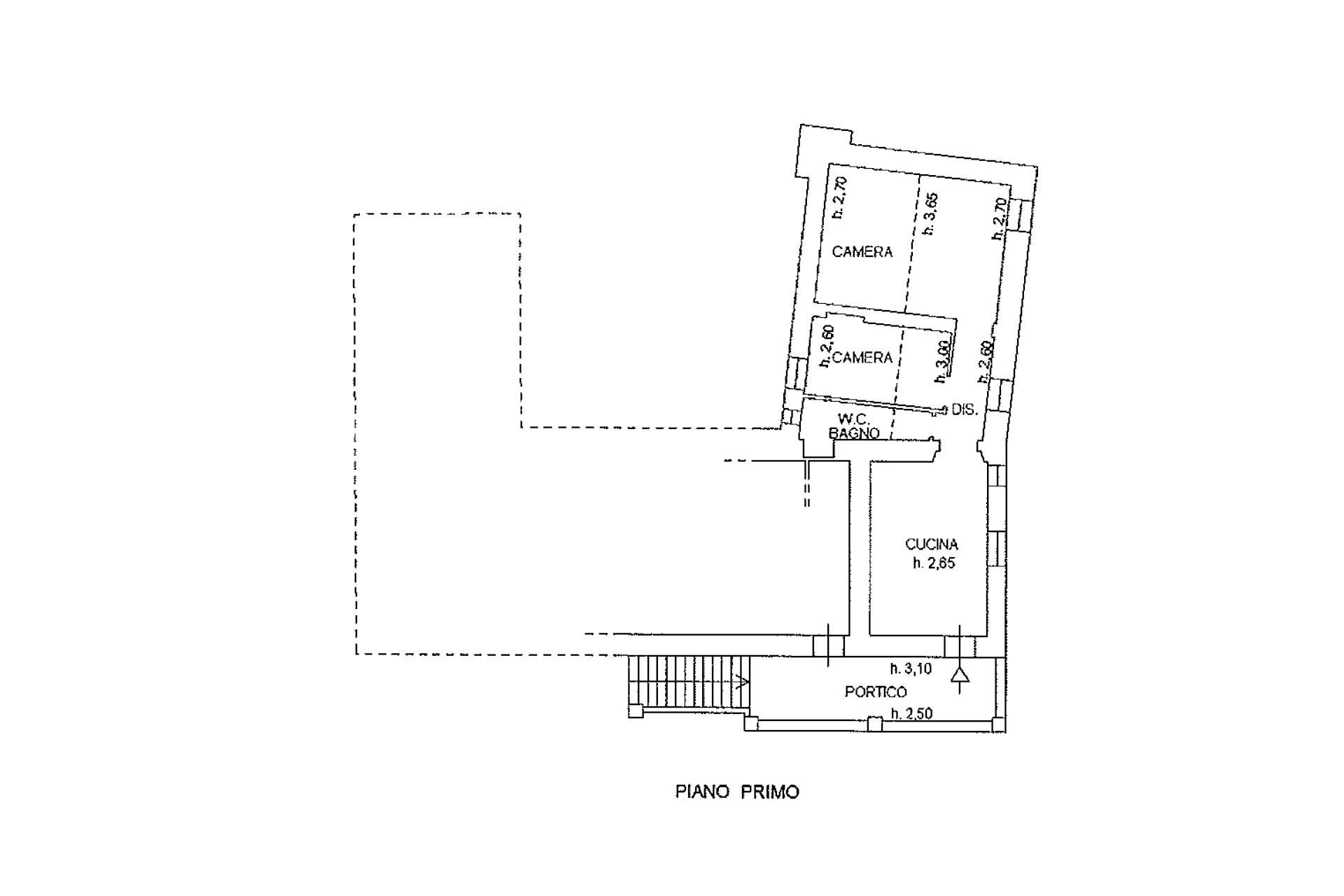 Planimetria appartamento piano primo