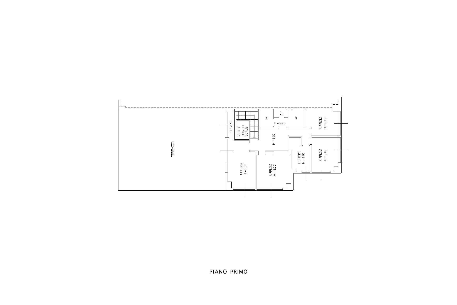 Planimetria piano primo uff. 1
