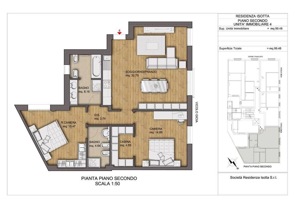 Appartamento in vendita a Rimini, 3 locali, zona Zona: Centro storico, prezzo € 300.000 | CambioCasa.it