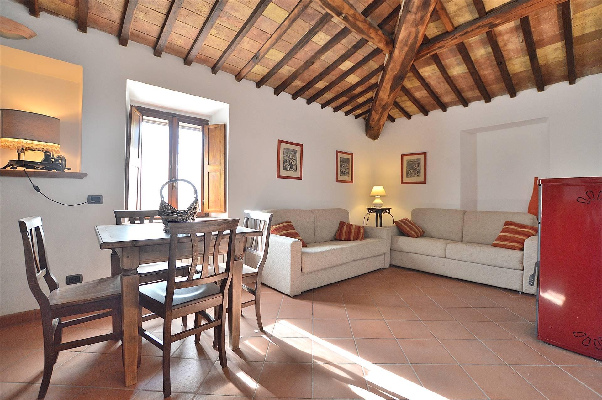 Nelle vicinanze di Casciano di Murlo, in piccolo e caratteristico borgo , proponiamo appartamento ristrutturato in pietra con ingresso indipendente